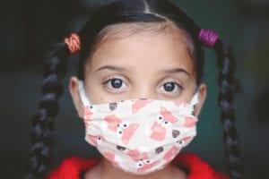 girl, child, face mask